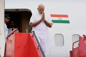 Cyclone AMPHAN: PM Modi arrives in Bengal for aerial survey, received by CM Mamata, Governor