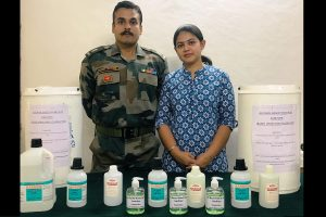 Army officer's wife contributes to COVID-19 fight, formulates sanitiser for troops