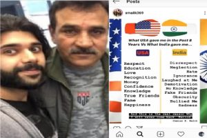 Riots accused BJP MLA's son posts anti-India message on Instagram, showers praise on US