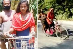 For 'bicycle girl' Jyoti Kumari studies first priority, says father