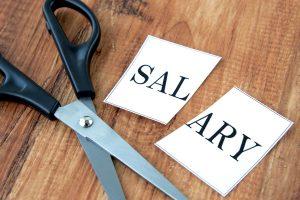 Salaries reduced