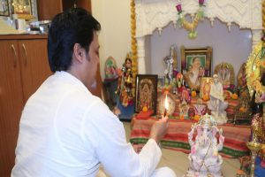 Tripura CM performs puja at his official residence to mark first anniversary of Modi 2.0
