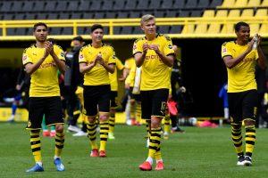 Borussia Dortmund's emphatic win over Schalke in Bundesliga marks return of football