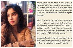 COVID-19: Boney Kapoor's house help tests positive; Janhvi Kapoor shares message