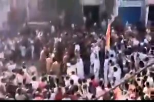 Huge crowd gathered at MP's Sagar to welcome Jain Monk violating lockdown norms