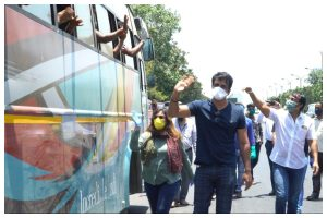 Sonu Sood arranges buses for migrant workers to send home in UP