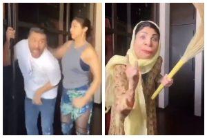 Watch   Shilpa Shetty beats husband Raj Kundra as househelp accuses him of kissing her