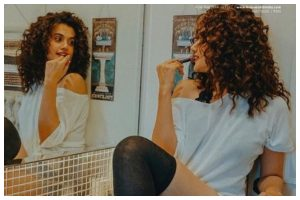 Lockdown diaries: Taapsee Pannu shoots for magazine cover in her washroom