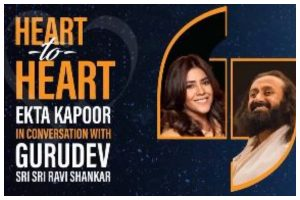 Watch | Ekta Kapoor's 'Heart to Heart' with Sri Sri Ravi Shankar amidst COVID-19 scare