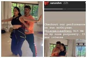 Watch | Varun Dhawan, Kiara Advani's 'Sun Saathiya' dance rehearsal where latter hit actor's nose