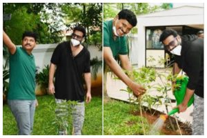 Prabhas joins Green India Challenge, plants saplings as part of campaign