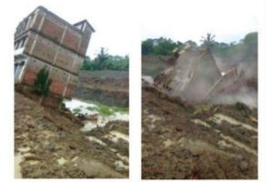 Four-storey under-construction building collapses into canal