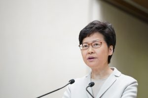 Hong Kong leader Carrie Lam accuses US of double standards over protests