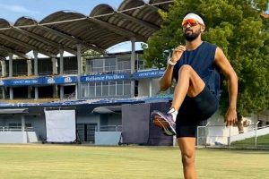 Krunal Pandya resumes outdoor training after COVID break