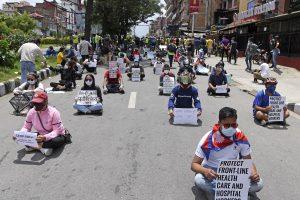 Hundreds of protesters take to street in Nepal against govt Coronavirus response