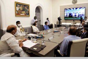 Rajnath Singh reviews Ladakh Border situation with CDS, three Services Chiefs
