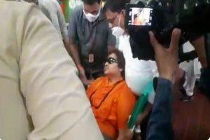 BJP MP Sadhvi Pragya faints at an event in Bhopal, hospitalised