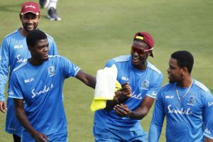 West Indies team depart for England for three-Test series