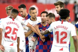 La Liga table-toppers Barcelona hold 0-0 by Sevilla; Real Madrid with chance to get level