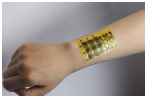 Wearable skin patch monitors health using your sweat