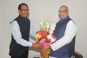 Madhya Pradesh Chief Minister Shivraj Chauhan visits ailing Guv Lalji Tandon in hospital