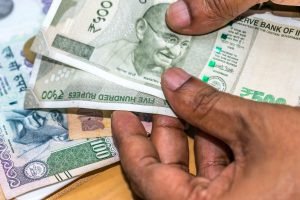 Rupee intraday trade nears day's high at 75.56 against US dollar