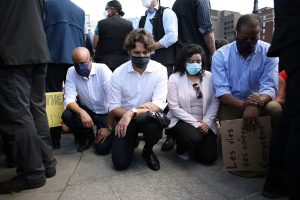 George Flyod's death: Justin Trudeau takes a knee with Canada protesters for racial justice