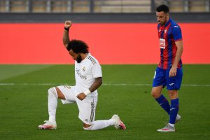 Marcelo urges to make 'real CHANGES' after taking a knee in Real Madrid's game against Eibar