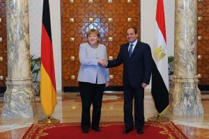 Egypt President Fattah al Sisi, Angela Merkel discuss recent developments in Libya