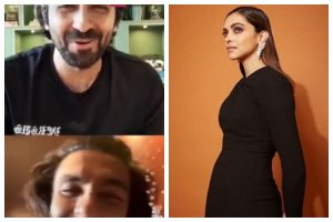 Watch | Deepika Padukone gets angry at Ranveer Singh as he chats with Ayushmann Khurrana loudly