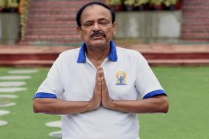 'Include Yoga as part of online learning programmes': Vice President Venkaiah Naidu