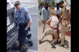 Jodhpur sees George Floyd moment but with a twist; man 'without mask' manhandles cops