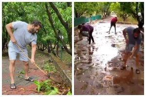 Watch | Salman Khan, Lulia Vantur celebrate World Environment Day, clean his farmhouse