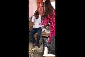 TikTok star-turned-BJP leader Sonali Phogat thrashes an official with slippers in Haryana