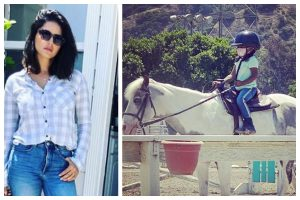 Sunny Leone's daughter Nisha takes her first horse-riding session; proud mom shares pic