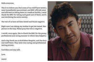Aamir Khan's staff tests Covid positive, actor assures he is safe