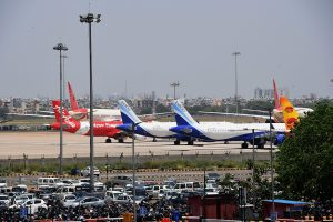 First flight from B'desh under air bubble agreement lands in city