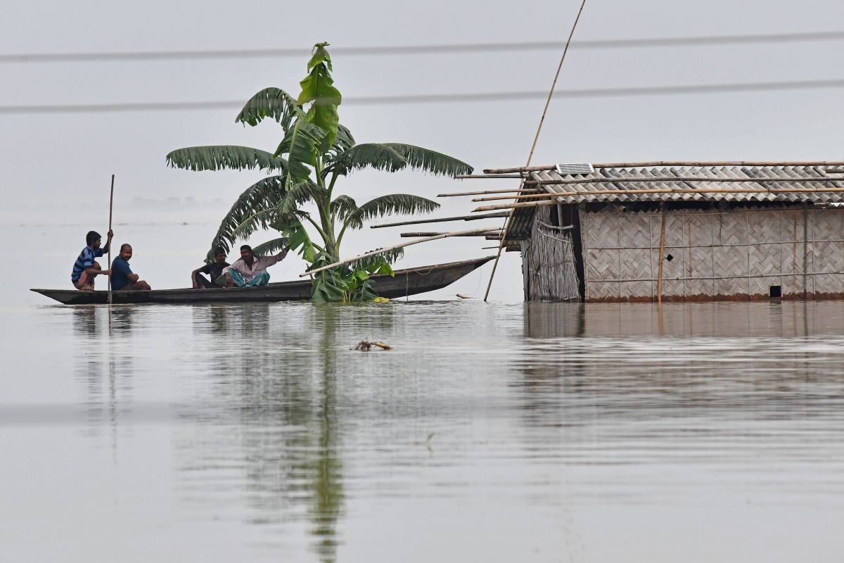 Assam flood, disaster management authority, people affected