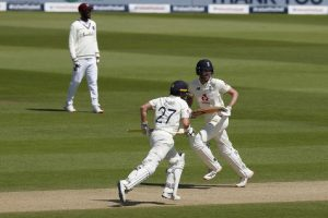 ENG vs WI 1st Test: Burns, Sibley reduce first innings deficit to 35 at Lunch on Day 4