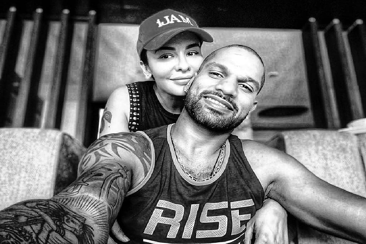 Shikhar Dhawan shares adorable picture with wife Aesha Dhawan