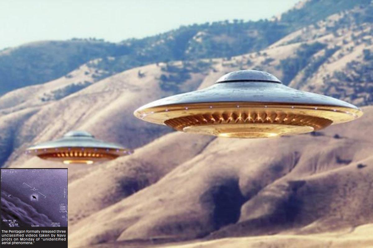 AUS Pentagon, UFOs, US Navy cruiser, World War 2, Omen