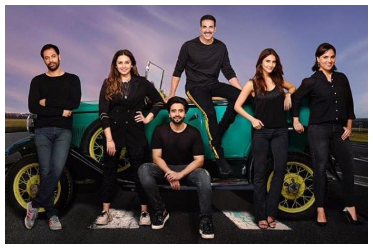 Lara Dutta, Huma Qureshi, Akshay Kumar, Vaani Kapoor, Bell Bottom