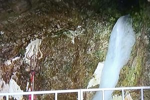 Holy ice lingam melting amidst uncertainty over the Amarnath pilgrimage