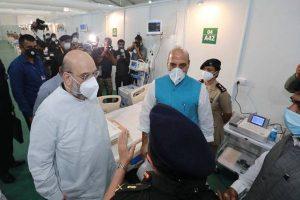 Amit Shah, Rajnath Singh visit 1000-bed Sardar Vallabh Bhai Patel COVID-19 Hospital