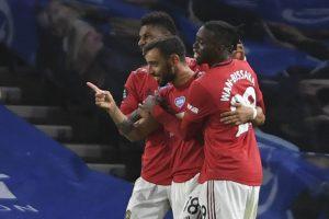 Premier League: Bruno Fernandes masterclass helps Manchester United beat Brighton 3-0