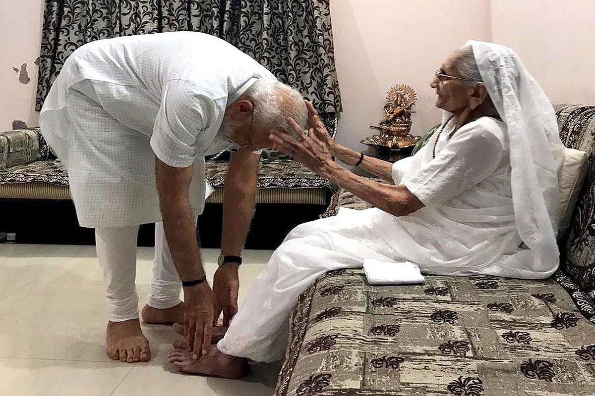 Boundless affection, endless positivity...': Mukhtar Abbas Naqvi shares  video of PM with his mother