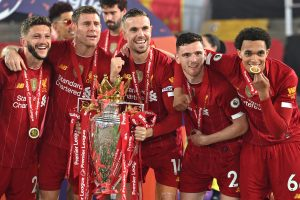 Dream of every fan was at the heart of our success, says Andy Robertson after Liverpool lift Premier League trophy