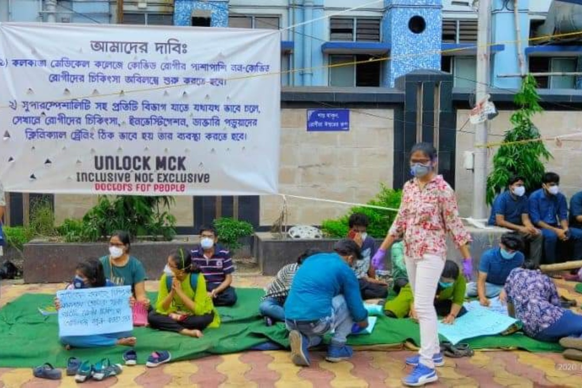 Kolkata Medical College Hospital, West Bengal, COVID-19, West Bengal health department, WB Health Portal, Kolkata medical college protest, doctors protest, medical college doctors, West Bengal news, Bengal coronavirus news, bengal covid news