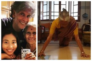 Watch| Milind Soman's mom Usha gives some major fitness goals on her 81st birthday