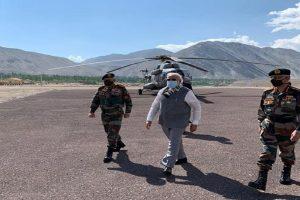 PM Modi visits forward posts in Ladakh amid standoff with China